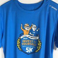 Brooks 2019 Berkshire Hathaway 5K T Shirt Mens Size Medium Blue