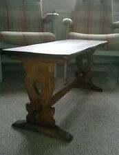 RUSTICO VINTAGE/Antico tavolo in legno intagliati CUORI Caffè SIDE TABLE TAVOLO CONSOLE
