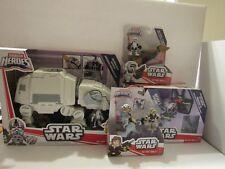(4) Playskool Star Wars Galactic Heroes Hoth At-At  Speeder bike Taun Taun