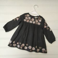 Baby Girl Clothes 9-12 Months Zara Baby Grey Floral Embroidery Dress Winter
