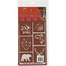 Armour Products Over N Over Glass Etching Stencil 5-Inch by 8-Inch, Wild Things
