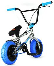 "FatBoy Pro Mini 10"" BMX Bicycle Fat Tire Freestyle Bike Toma Hawk Chrome Blue"