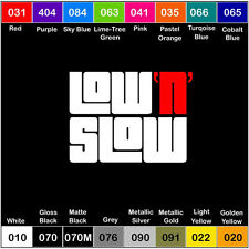 LOW N SLOW V2 Vinyl Decal JDM Sticker Window Car