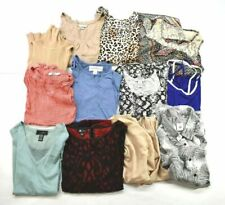 Wholesale Bulk Lot of 12 Womens Large Business & Casual Blouses Sleeveless Tops