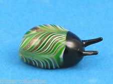 Murano Art-Glass Green & Gold Sparkle Scarab Beetle Figurine