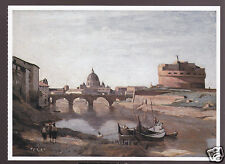 CAMILLE COROT The Castel Sant'Angelo, Rome (1835-1840) ARTWORK PAINTING POSTCARD