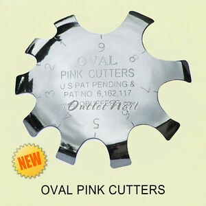 PINK CUTTER Pink & White Acrylic Gel Nail Cutter Q-French Q-Buffers Product Tool