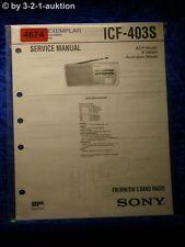 Sony Service Manual ICF 403S 3 Band Radio (#4674)