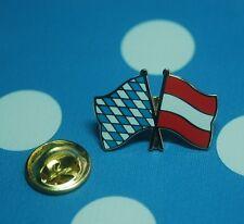 Freundschaftspin Bayern Österreich Pin Button Badge Anstecker Flaggenpin Sticker
