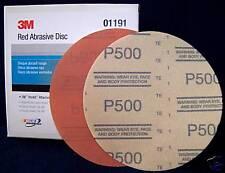 "3M Red 1191 Hook It 6"" Disc Sandpaper 500 grit 50/bx"