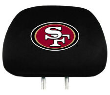 San Francisco 49ers Auto Head Rest Covers 2 Pack [NEW] NFL Car Seat Headrest CDG