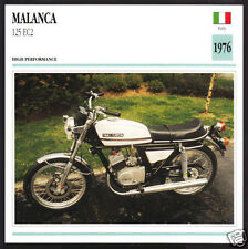 1976 Malanca 125cc EC2 (124cc) Italy Motorcycle Photo Spec Sheet Info Stat Card