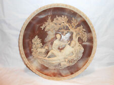 "Incolay Stone Plate Romantic Poets Series ""A Thing Of Beauty"" Greek Roman"
