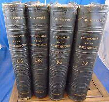 Littré Dictionnaire de la langue Française 1874 (4 vol.)...
