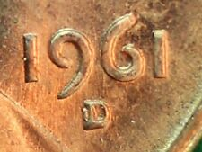 1961-D/HORIZONTAL D UNCIRCULATED LINCOLN HEAD CENT REPUNCHED MINT MARK (RPM#1)