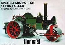Aveling monocilíndrico Steam Roller-De Metal Blanco Modelo Para Armar Y Pintar