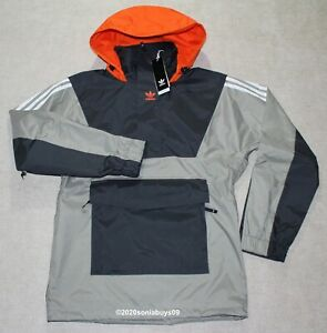 Adidas Men's Anorak 10K Snowboarding Jacket, FJ7501, Grey/Orange, Size S