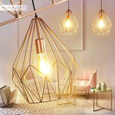 Lámpara colgante de diseño retro naranja dorado salón comedor dormitorio pasillo