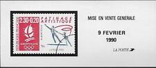 PATINAGE ARTISTIQUE  DOCUMENT DE LA POSTE DEBUT DE VENTE  09 FEVRIER 1990