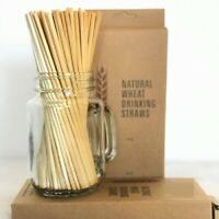 Wheat Drinking Straws Natural Eco-Friendly Biodegradable Straws x 350 limited