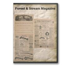 Forest & Stream Magazine Outdoor Life Hunting Fishing 1874-1896 2 DVDs A833-4