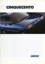 FIAT CINQUECENTO 900 & 900 SX 1993-1994 ORIGINALE UK SALES BROCHURE PUB NO A065