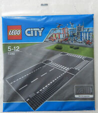 NEW LEGO STRAIGHT & CROSSROAD BASEPLATE SET 10x10 inch base boards road 7280
