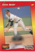 FREE SHIPPING-MINT-1992 Donruss Triple Play #85 Steve Avery Atlanta Braves