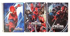 Marvel Spider-Man Hardcover Spiral 96 Page Mini Composition Notebook 3 Pc Set