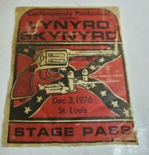 DEC, 3, 1976 * STAGE PASS * ST.LOUIS * LYNYRD SKYNYRD Contemporary Productions