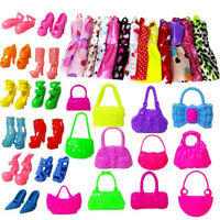 GX- 30Pcs Fashion Dresses Clothes Handbag High Heel Shoes For Doll Toy Fa
