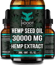 Hemp Oil Extract For Pain Relief, Stress , Anxiety, Sleep - 2 PACK 30,000 mg