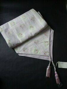 Laura Ashley Verity Check Lilac Embroidered Floral Table Runner - NEW