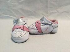 Nike Air Jordan 1st Crib Infant Girls White/pink/silver Crib Shoes~size 2 C