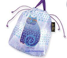 Laurel Burch Drawstring CrossBody Organizer Indigo Cat Gift Bag Jewelry Pouch