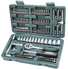 Mannesmann Werkzeug Steckschlüssel und Bitsatz Werkzeugkoffer Ratschenkasten NEU