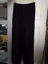 Ladies Size 8 Black Elastic Waist Cotton Pants waist 24 - inseam 28
