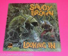 ROGER EARL SIGNED SAVOY BROWN LOOKING IN  VINYL LP *PROOF*