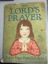 SIGNED! The Lord's Prayer, Ingri & Edgar Parin D'Aulaire 1934 1st Protestant Ed