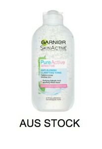 Garnier Pure Active Sensitive Anti-Blemish Gentle Toner Purifies Tightens 200ml