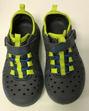 Used Boys Stride Rite Phibian Sz 9 Blue Rubber Shoes Sandals Water Made To Play