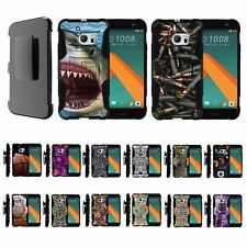 For HTC 10 / One M10 / HTC 10 Lifestyle Rugged Hybrid Holster Belt Clip Case