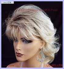 Angela  MID LENGTH LAYERED SHAG Wig *RH26.613RT8 ROOTED BLOND LIGHTWEIGHT