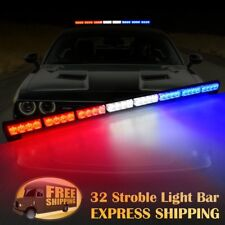 "35"" 32 LED  Emergency Hazard Warning Advisor Strobe Light Bar Red White Blue"