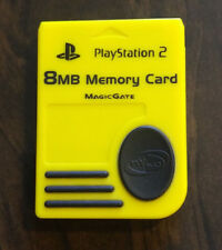 Official Sony Playstation 2 PS2 Memory Card - Yellow NYKO Suregrip Magic Gate