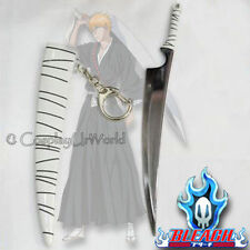 Bleach Ichigo Kurosaki Zangetsu Soul Slayer Slicing Sword Katana Keychain New