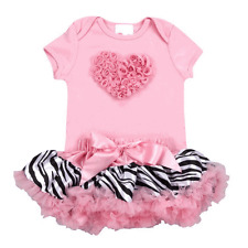 Lollipop Moon Pink Zebra Love Tutu Set  3-6 Months