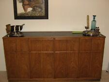 Mid-Century Modern Henredon dining room set: table, 6 chairs, buffet