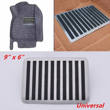 """9"""" x 6"""" Stainless Car Floor Carpet Mat Patch Foot Heel Plate Pedal Pad Brilliant"""