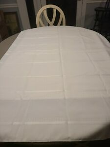 White Rectangle Tablecloth 70 x 104  for a wider table or regular. freeship